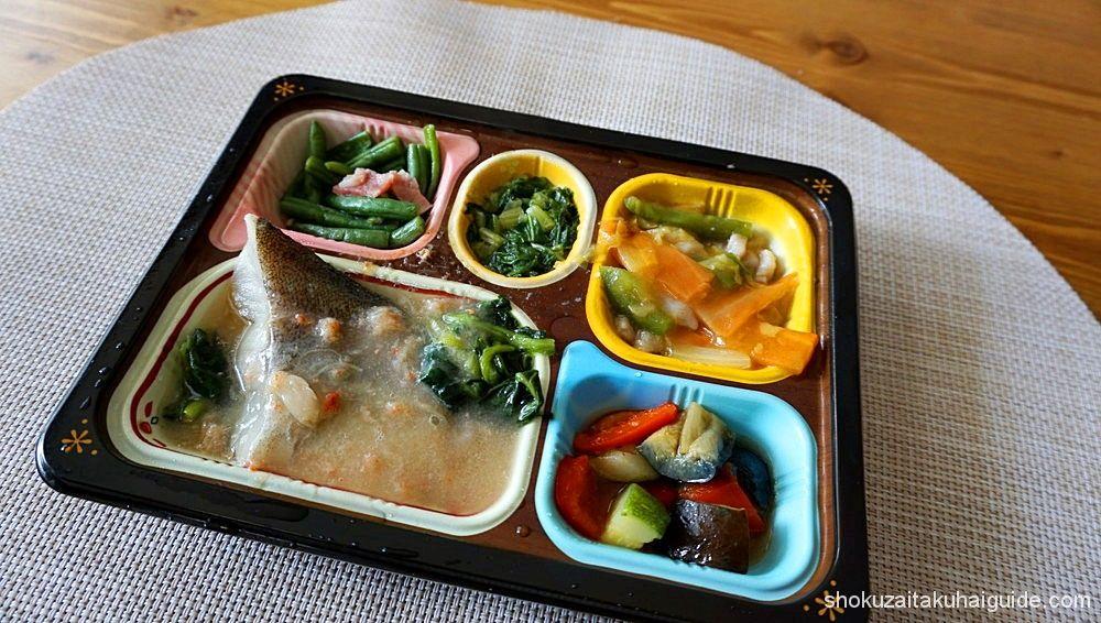 鱈のカニあんかけと豚肉の野菜旨煮1