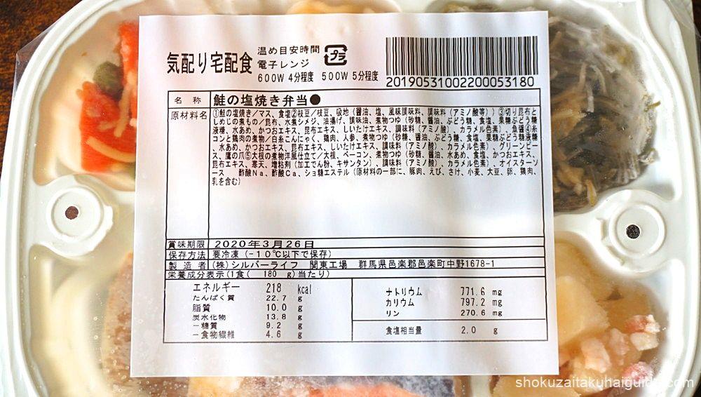 原材料・賞味期限・栄養成分