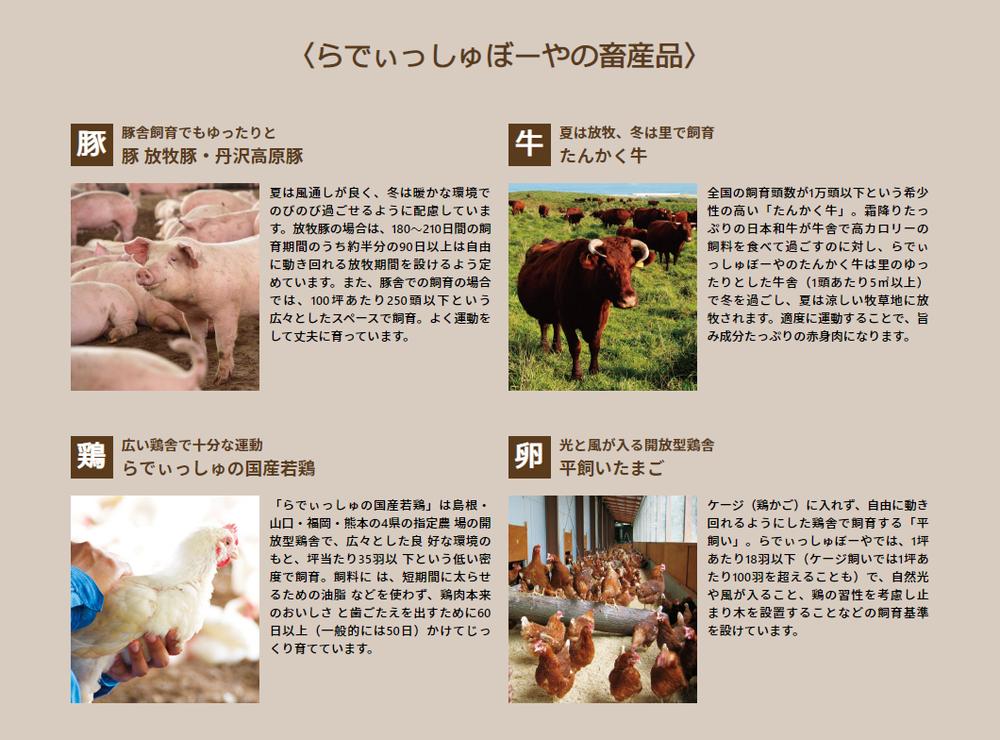 らでぃっしゅぼーやの畜産品
